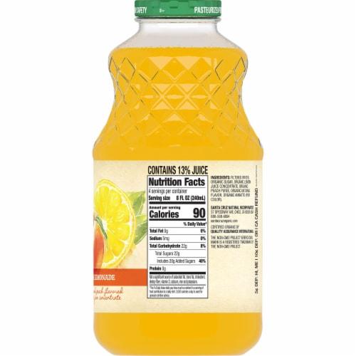 Santa Cruz Organic Peach Lemonade Perspective: back