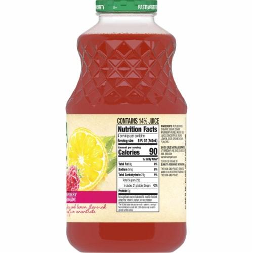 Santa Cruz Organic Raspberry Lemonade Perspective: back