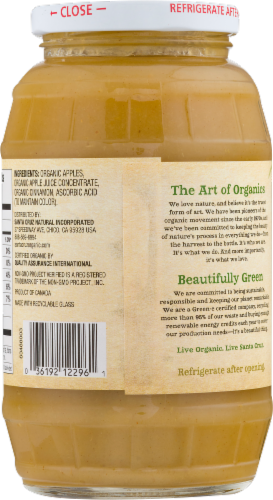 Santa Cruz Organic Cinnamon Apple Sauce Perspective: back