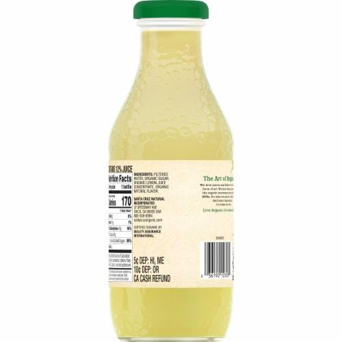Santa Cruz Organic Lemonade Perspective: back