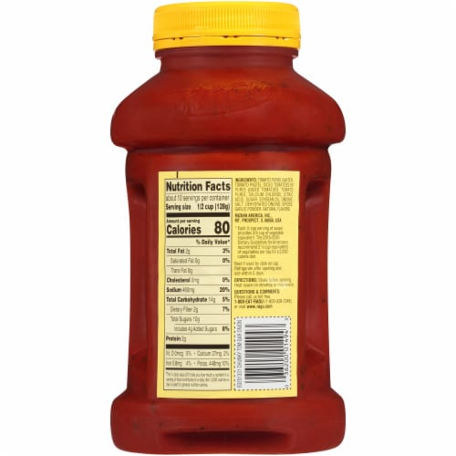 Ragu Chunky Tomato Garlic & Onion Pasta Sauce Perspective: back