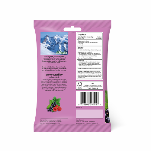 Ricola Berry Medley Throat Drops Family Pack Perspective: back