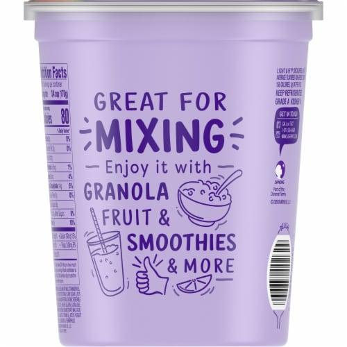 Dannon® Light & Fit Original Strawberry Nonfat Yogurt Perspective: back