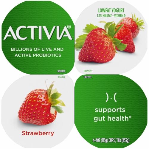 Activia® Strawberry Lowfat Probiotic Yogurt Perspective: back