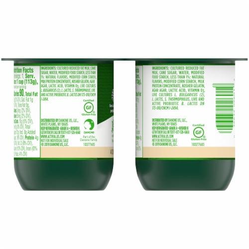 Activia® Vanilla Probiotic Lowfat Yogurt Perspective: back