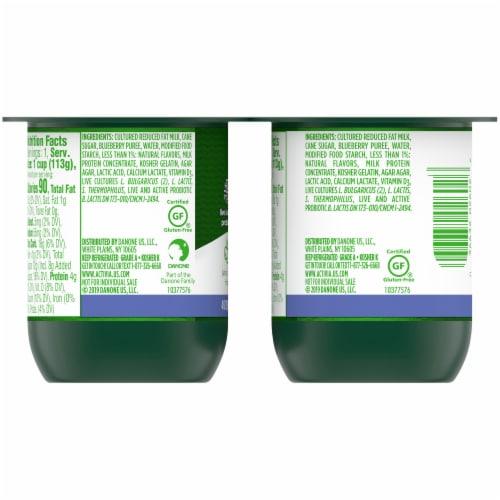 Activia Lowfat Blueberry Probiotic Yogurt Perspective: back