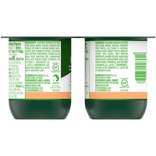 Activia Peach Lowfat Probiotic Yogurt Perspective: back
