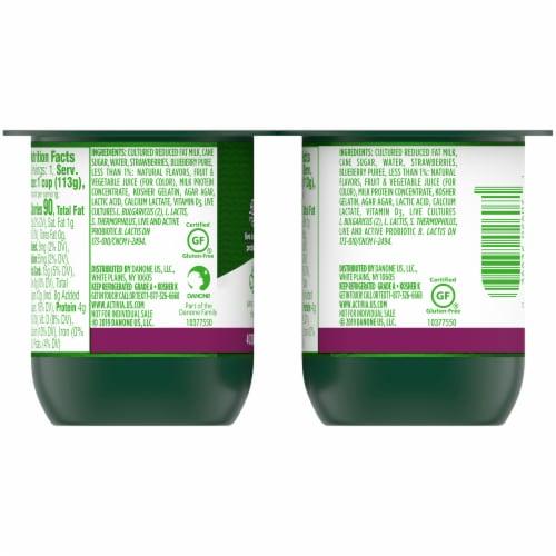 Activia Mixed Berry Lowfat Probiotic Yogurt Perspective: back