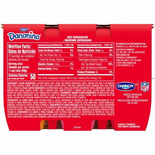 Dannon® Danonino Power Packed Yogurt Cups Variety Pack Perspective: back