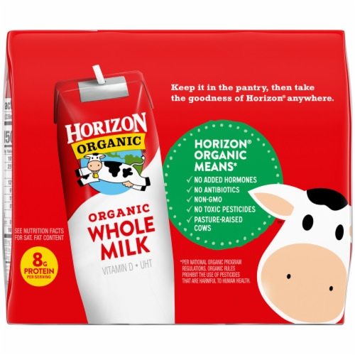 Horizon Organic Whole Milk Perspective: back
