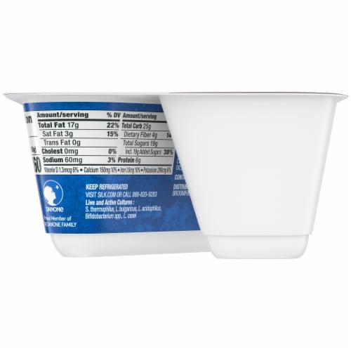 Silk® Coconut Chocolate Almond Almondmilk Yogurt Alternative Perspective: back