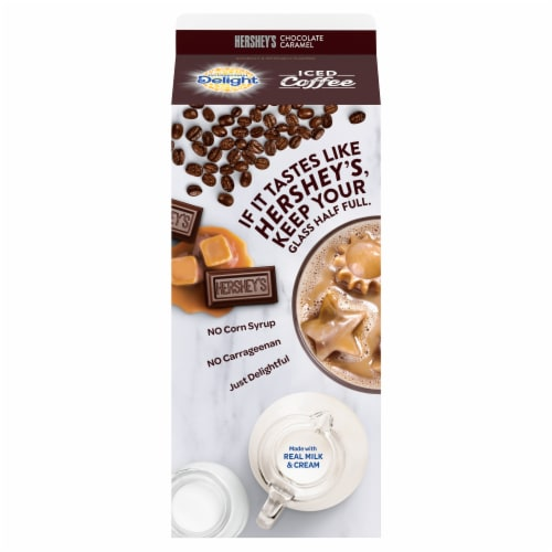 International Delight Hershey's Chocolate Caramel Iced Coffee Perspective: back