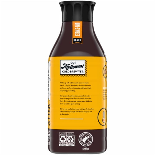 Stok® Un-Sweet Black Lighter Roast Cold Brew Iced Coffee Perspective: back