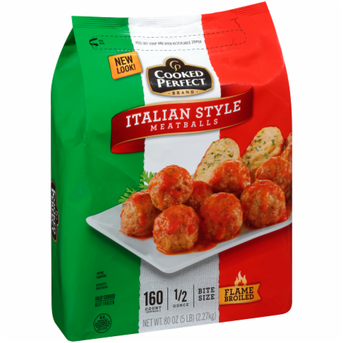 Cooked Perfect Italian Style Meatballs Perspective: back