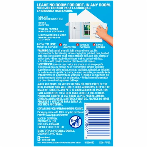 Mr. Clean Magic Eraser Original Household Cleaning Pad Perspective: back