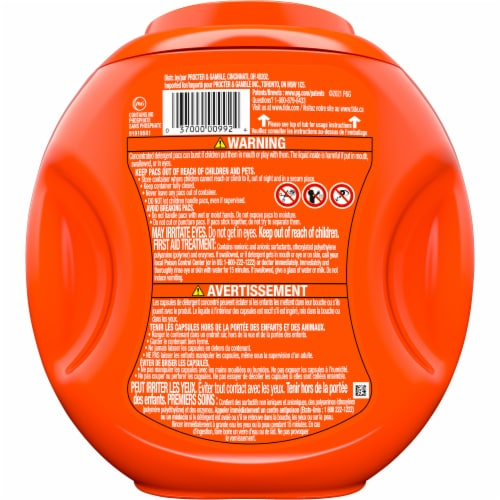 Tide PODS Spring Meadow 3-in-1 Laundry Detergent Pacs Perspective: back