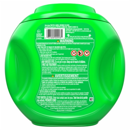 Gain Flings! Laundry Detergent Pods - Moonlight Breeze Scent with Oxi Boost & Febreze Freshness Perspective: back