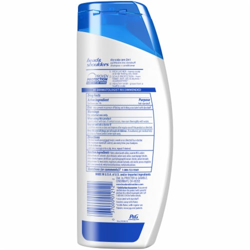 Head and Shoulders Dry Scalp Care w/Almond Oil 2in1 Anti-Dandruff Paraben Free Shampoo + Conditioner Perspective: back