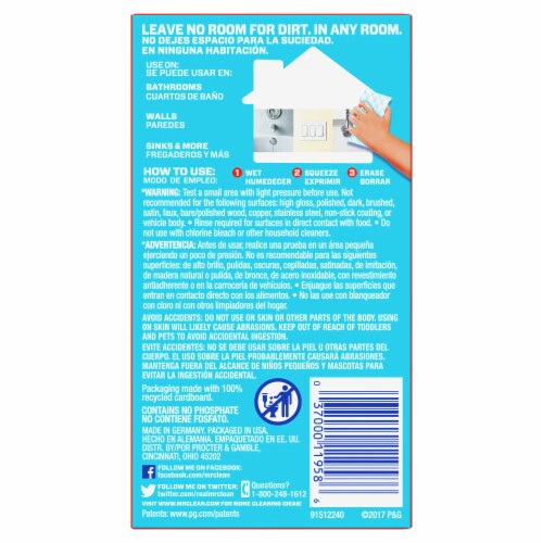 Mr. Clean Extra Durable Magic Eraser Perspective: back