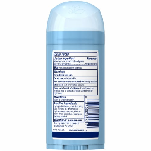 Secret Powder PH Balanced Antiperspirant Stick for Women Perspective: back