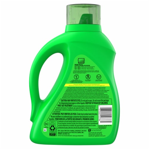 Gain Laundry Detergent Liquid Original Scent Plus Aroma Boost 64 Loads Perspective: back
