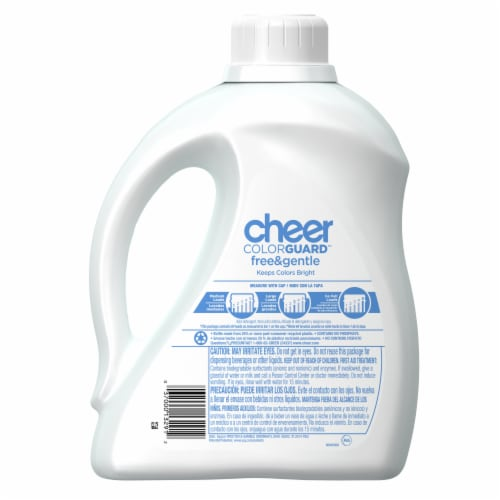 Cheer Stay Colorful Free Liquid Laundry Detergent Perspective: back