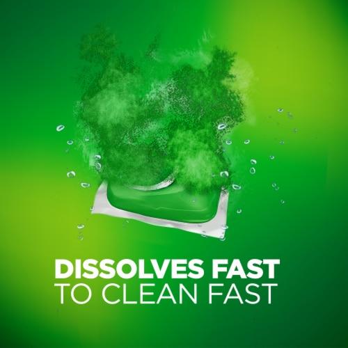 Cascade Dishwasher Detergent ActionPacs Fresh Scent Perspective: back