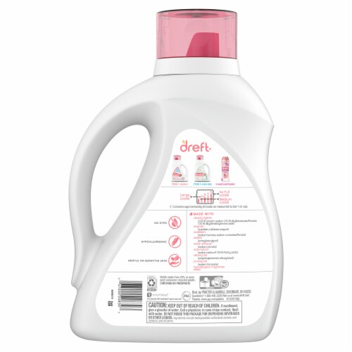 Dreft Stage 1: Newborn Baby Liquid Laundry Detergent Perspective: back