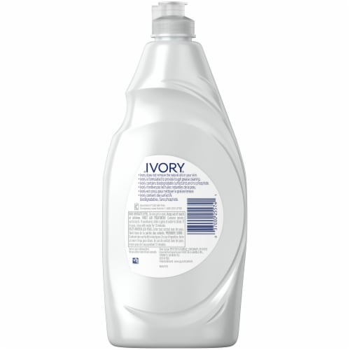 Ivory Classic Scent Concentrated Dishwashing Liquid Perspective: back