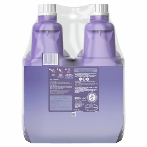 Swiffer® WetJet Multi-Purpose Lavender Vanilla Floor Cleaner Solution with Febreze Twin Pack Perspective: back