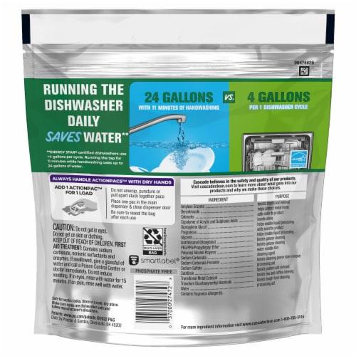Cascade Platinum Fresh Scent Dishwasher Detergent ActionPacs Perspective: back