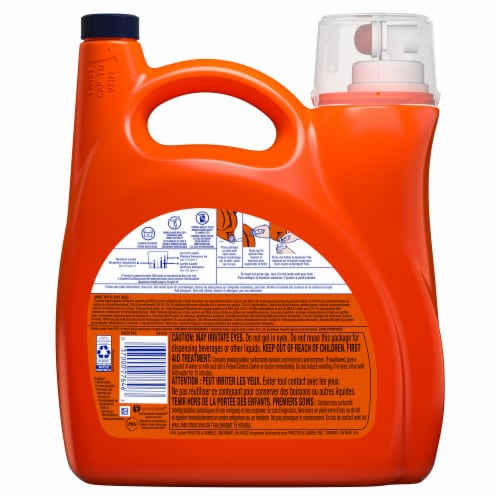 Tide Hygienic Clean Spring Meadow Heavy Duty Liquid Laundry Detergent Perspective: back