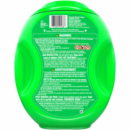 Gain Flings! Moonlight Breeze 3-in-1 Laundry Detergent Pacs Perspective: back