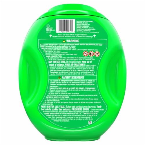 Gain Flings! +AromaBoost Tropical Sunrise 3-in-1 Laundry Detergent Pacs Perspective: back