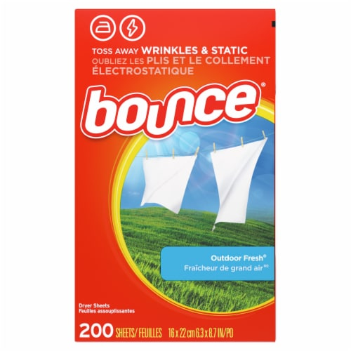 Bounce Outdoor Fresh Dryer Sheets Perspective: back