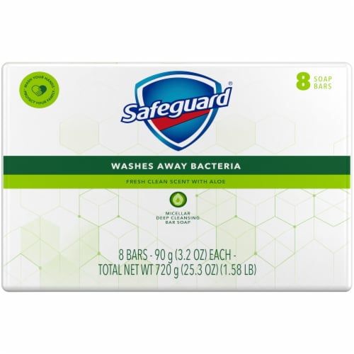 Safeguard Fresh Clean Scent with Aloe Bar Soap Perspective: back