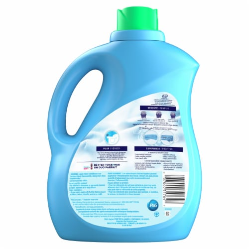 Downy Ultra Mountain Spring Liquid Fabric Softener Perspective: back