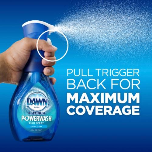 Dawn® Ultra Platinum Powerwash™  Fresh Scent Spray Dish Soap Starter Kit & Refill Perspective: back