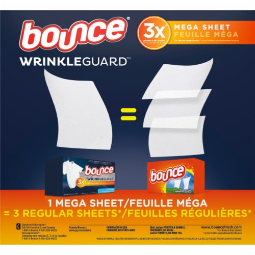 Bounce® Outdoor Fresh Wrinkle Guard Dryer Sheets Perspective: back
