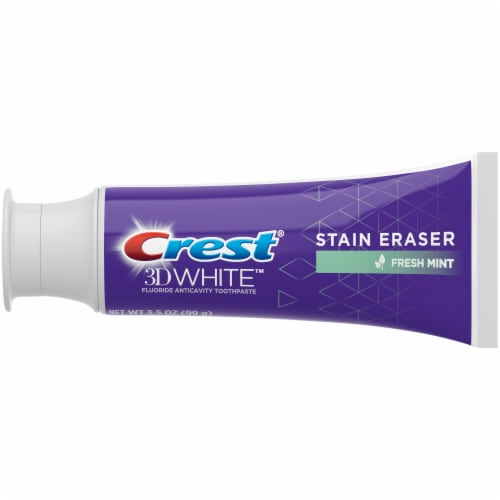 Crest 3D White Stain Eraser Whitening Toothpaste Fresh Mint Perspective: back