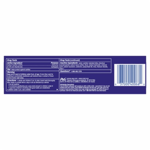 Crest® 3D White Whitening Toothpaste Radiant Mint Perspective: back
