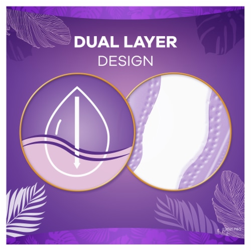 Always® Extra Protection Extra Long Daily Liners Perspective: back
