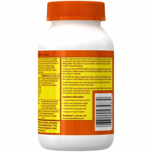 Metamucil 3-in-1 Fiber Capsules Perspective: back