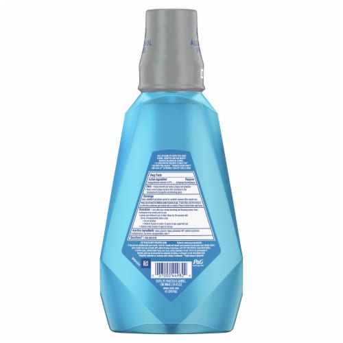 Crest Pro-Health Mouthwash Alcohol Free Clean Mint Multi-Protection Perspective: back