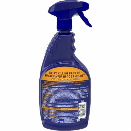 Microban 24 Hour Multi-Purpose Citrus Scent Cleaner and Disinfectant Spray Perspective: back