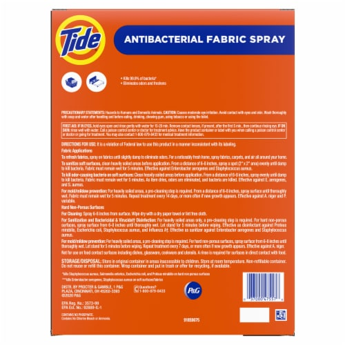 Tide® Antibacterial Fabric Spray Perspective: back