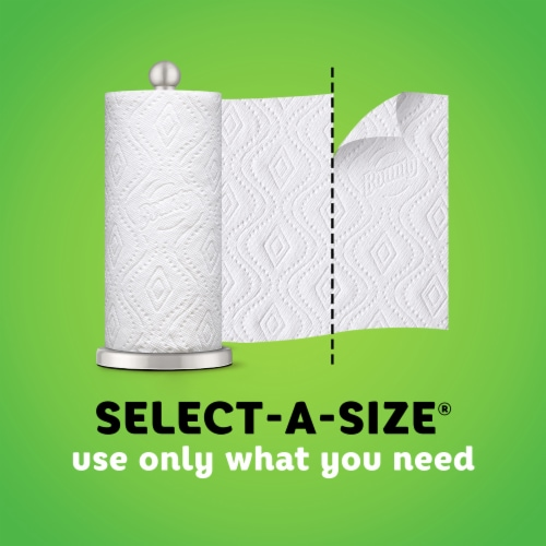 Bounty Select-A-Size Single Plus Roll Paper Towels Perspective: back