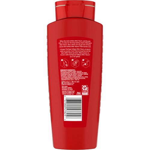 Old Spice After Hours Men's Body Wash Perspective: back