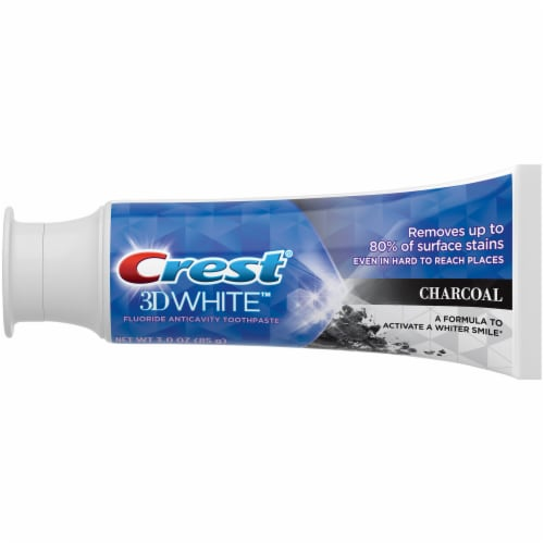 Crest 3D White Charcoal Anticavity Toothpaste Perspective: back