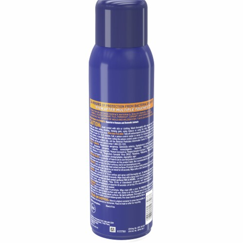 Microban® 24 Hour Citrus Scent Disinfectant Sanitizing Spray Perspective: back